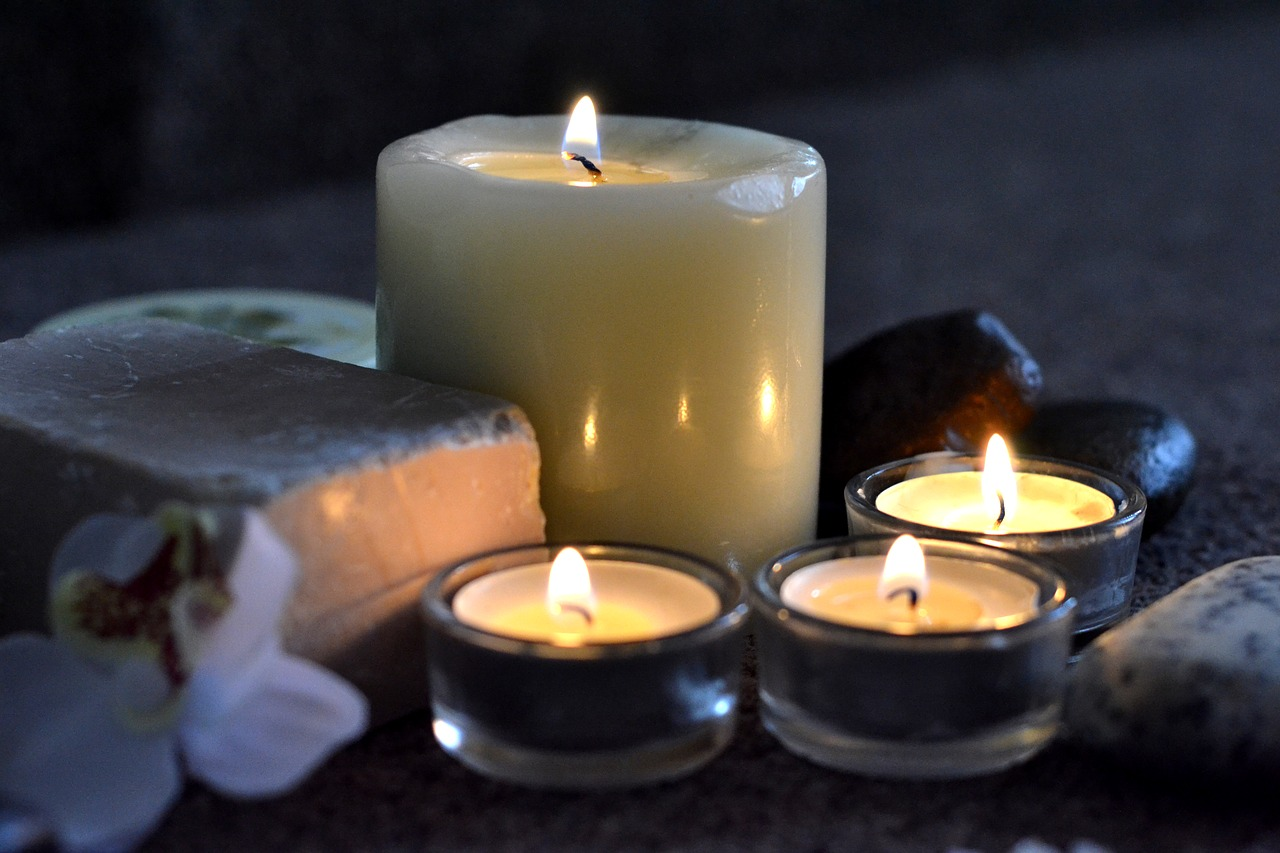 candles, spa, relax